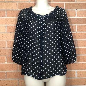 H & M Blouse size 2 polka dot